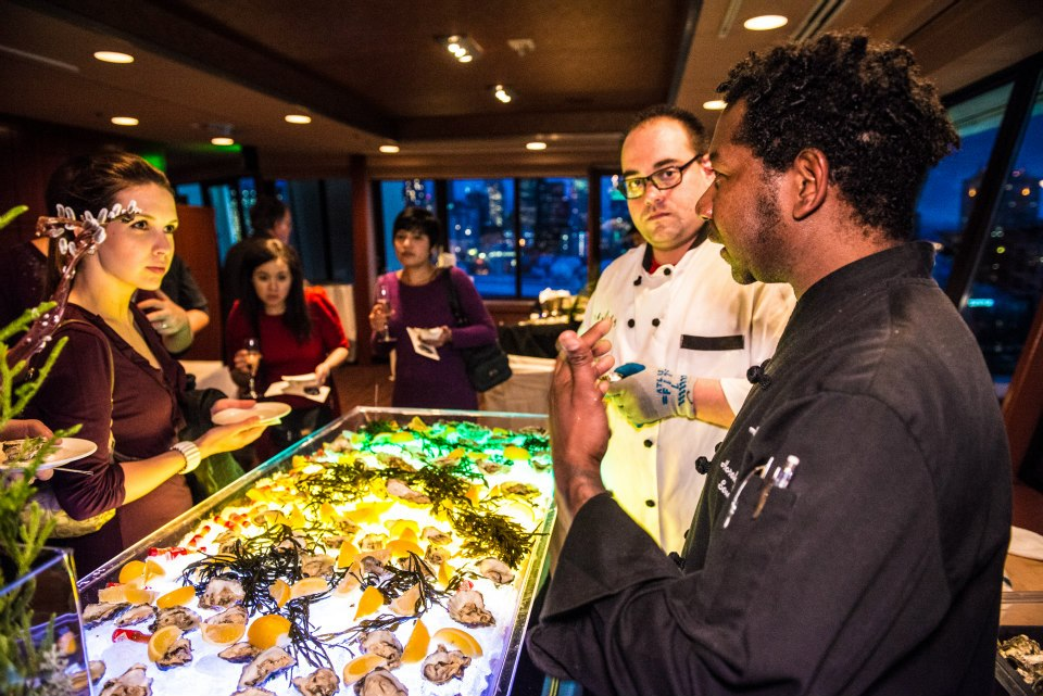 """The ultimate oyster event in Seattle """"bOYSTERous"""" an oyster sampling soiree at the Space Needle"""