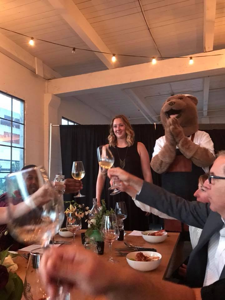 """Cow Meets Bear"" KING 5 sales management team celebrates business wins with a  glorious night on the town"