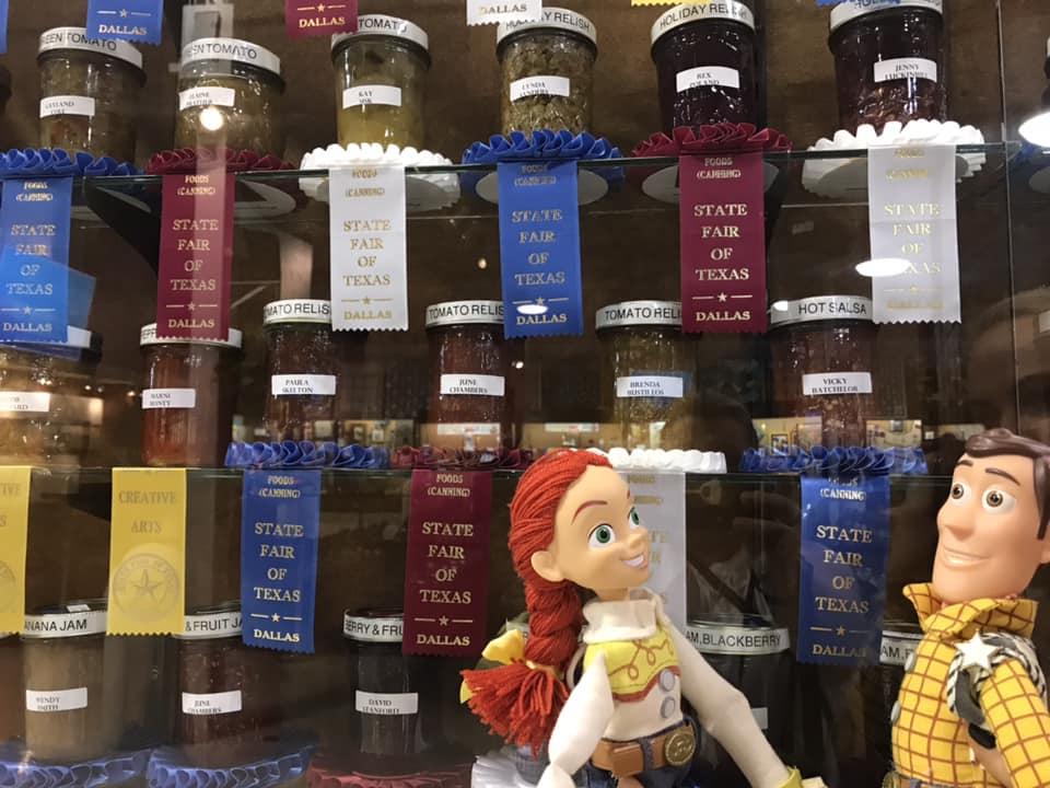 Jesse & Woody, two Toy Story favorites, travel to the Texas State Fair on a great adventure